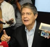 ECUADOR.- El excandidato presidencial advierte al presidente Lenín Moreno que la situación es crítica. Foto: API