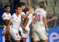 Sevilla venció 2-1 en condición de visitante al Estambul Basaksehir turco. Foto: AFP