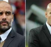 Pep Guardiola y Zinedine Zidane están entre los nominados a mejor DT del año.