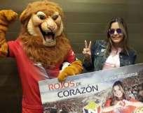Larissa Riquelme cumplirá varias actividades con el club capitalino. Foto: Tomada de la cuenta Twitter @elnacionalec