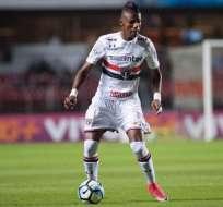 El ecuatoriano Robert Arboleda fue titular en el empate de Sao Paulo en condición de visitante.