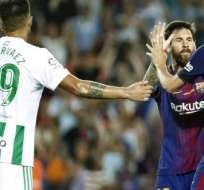 Barcelona se impuso 2-0 al Betis de Sevilla en la primera jornada de la Liga española.