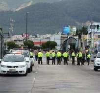 """El alcalde de Quito informó que """"14 personas fueron detenidas en flagrancia"""" durante paro. Fotos: Twitter Municipio de Quito."""
