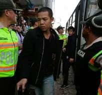 Se cumple el tercer día de juicio contra 20 ciudadanos chinos. Foto: AFP