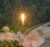 """Autoridades precisaron que el misil """"no supuso ninguna amenaza para Norteamérica"""". Foto: Archivo / AFP"""