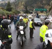 Representantes estudiantiles de la Universidad Central del Ecuador rechazan la posibilidad de un alza de pasajes. Foto: API