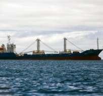 Según las Fuerzas Armadas, la flota de 300 barcos chinos ya salió de nuestras aguas. Foto: AFP