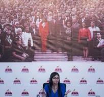 CARACAS, Venezuela.- La presidenta de la Asamblea Nacional Constituyente de Venezuela, Delcy Rodríguez. Foto: AP.