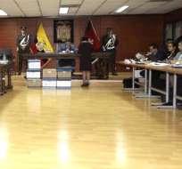 QUITO, Ecuador.- La audiencia de vinculación por asociación ilícita se desarrolla en la Corte Nacional de Justicia. Foto: API