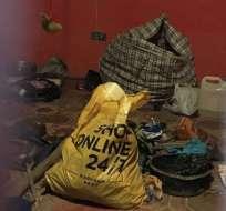 La policía encontró varias partes de cuerpos humanos durante una inspección en la casa de un curandero tradicional. Foto: BBC