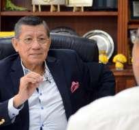 El presidente de la Federación Ecuatoriana de Fútbol criticó el fallo del TAS. Foto: Franklin Navarro/ecuavisa.com