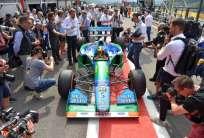 Mick Schumacher, hijo de Michael Schumacher, dio varias vueltas en la F1 el domingo. Foto: AFP