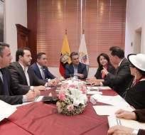 QUITO, Ecuador.- En 30 días, será la segunda reunión en donde se abordarán los avances registrados. Foto: Asamblea Nacional