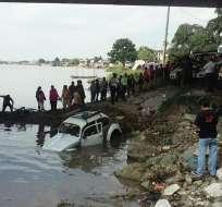 Heridos fueron trasladados hasta el Hospital del IESS de Durán. Foto: Bomberos de Durán