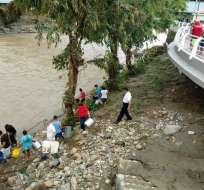 TENA, Ecuador.- Datos preliminares informan que los barrios más afectados del cantón son Terrere, Bellavista Baja y Las Sogas.  Foto: API.