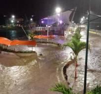 TENA, Ecuador.- El hombre murió en el interior de su dormitorio, inundado tras la crecida de varios ríos. Foto: API.