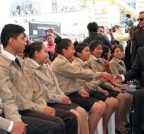 QUITO, Ecuador.- El presidente Lenín Moreno exhortó a los jóvenes a ser solidarios con sus compañeros. Foto: Presidencia de la República