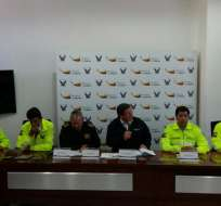 Funcionarios del Ministerio del Interior en rueda de prensa. Foto: Tomada de Twitter de Ministerio del Interior