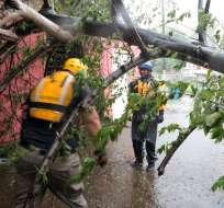 Con la llegada del huracán, cerca de un millón de personas se quedaron sin energía. Foto: AFP