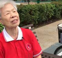 Tan Nal Keow, en un parque en Singapur. Foto: Tomada de Twitter @LevelUPcom