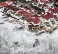 SANTIAGO, Chile.- El paso de Irma por el Caribe ha sido desastroso. Foto: AFP.