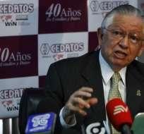 Ángel Polibio Córdova fue recientemente llevado al hospital por afecciones cardíacas. Foto: Archivo