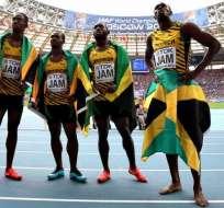 Usain Bolt y el resto del equipo de relevos de Jamaica se vio despojado del oro olímpico por doping de Carter.