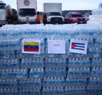CARACAS. Venezuela.-El gobierno venezolano ha enviado 30 toneladas de víveres  a Cuba y otras islas de Caribe. Fotos: Twitter Nestor Reverol.