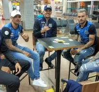 La delegación de Santos minutos antes de emprender su viaje a Guayaquil.