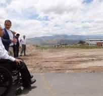 IMBABURA, Ecuador.- El presidente de la República, Lenín Moreno, realizó un recorrido por las instalaciones de Yachay, la denominada 'Ciudad del Conocimiento'. Foto: Secom