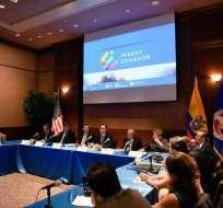 """El objetivo es """"refrescar las relaciones comerciales entre Ecuador y Estados Unidos. Foto: Andes"""