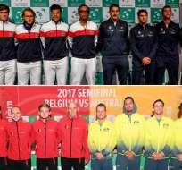 Las semifinales de la Copa Davis se disputan el fin de semana siendo favoritas las locales Francia y Bélgica.