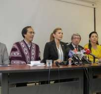 Dallyana Passailaigue presentó un informe sobre la situación de Yachay. Foto: Asamblea
