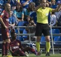 Es la primera grave lesión que sufrió el joven jugador francés del club catalán.