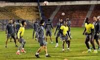 El equipo amarillo se encuentra en Brasil para afrontar el duelo de vuelta por cuartos de final. Foto: Tomada de la cuenta Twitter @BarcelonaSCweb