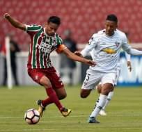 Los 'albos' vencieron 2-1 al 'flu', pero quedaron fuera por el gol de visitante. Foto: AFP