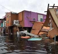 Puerto Rico todavía batalla con las peligrosas inundaciones provocadas por el huracán María. Foto: AFP