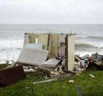 Una casa en ruinas en la población de El Negro, al día siguiente de que impactara el huracán María, en Puerto Rico, el jueves 21 de septiembre de 2017. Foto: AP