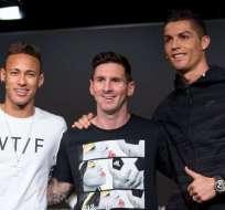 Neymar, Lionel Messi y Cristiano Ronaldo lucharán por el premio The Best de la FIFA.