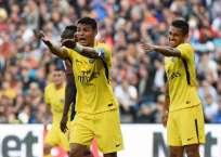 El equipo parisino sigue líder de la Ligue One con un punto más que el Mónaco. Foto: AFP