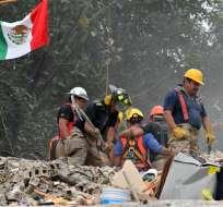 El sismo de 7,1 grados derrumbó 39 edificios en Ciudad de México. Foto: AFP