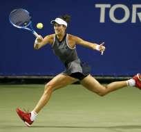 La española Garbiñe Muguruza no tuvo problemas para superar la primera ronda del torneo de Wuhan.