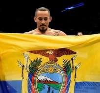 El ecuatoriano peleará ante el brasileño John Lineker en el FS1 de Sao Paulo. Foto: Tomada de la cuenta Instagram @chitoveraufc