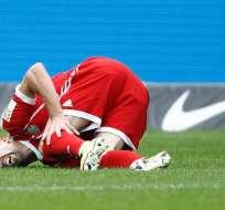 El francés Franck Ribéry se lesionó en el empate del Bayern ante el Hertha de Berlín.