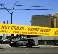 La mujer estaba fuera del país cuando Paddock disparó desde la habitación de un hotel, según las investigaciones. Foto: AFP