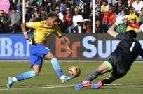 El portero fue la figura del partido al atajar las oportunidades de gol brasileñas. Foto: AFP