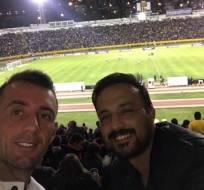 El volante de Barcelona asistió el Olímpico Atahualpa y vio clasificar a su país. Foto: Tomada de la cuenta Instagram @kiturc