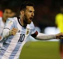 Lionel Messi fue la figura en la clasificación de Argentina en el estadio Olímpico Atahualpa.