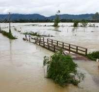 La provincia de Hoa Binh, en el norte del país, es la más afectada por estas lluvias. Foto: AFP