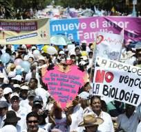 La manifestación se dio en Guayaquil y otras ciudades del país. Foto: API